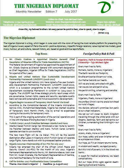 The Nigerian Diplomat Monthly Newsletter June 2017